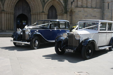 Keith Snowden's Wedding Cars photographed at Ripon Cathedral North Yorkshire
